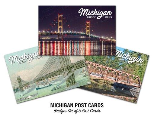 Michigan Bridges Postcards