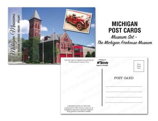 Michigan Firehouse Museum Postcard