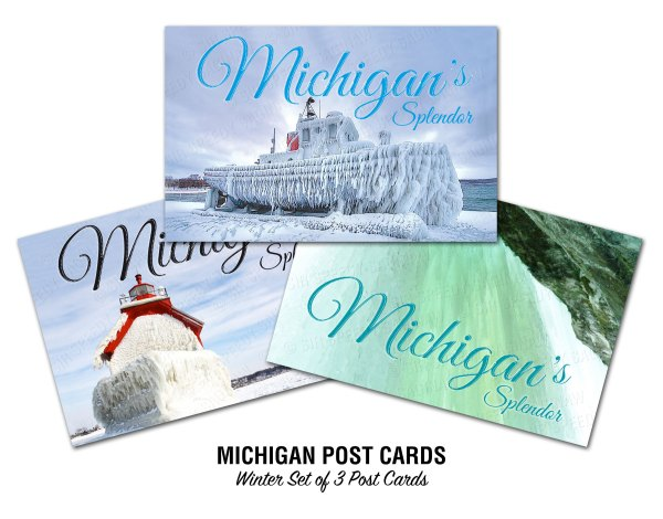 Michigan Winter and Ice Postcards