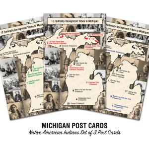 Native American Indian Tribes Postcards