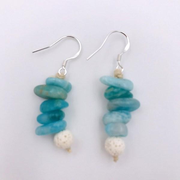 Amazonite Aromatherapy Earrings