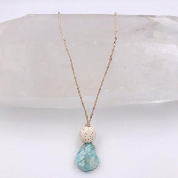 Amazonite Aromatherapy Necklace