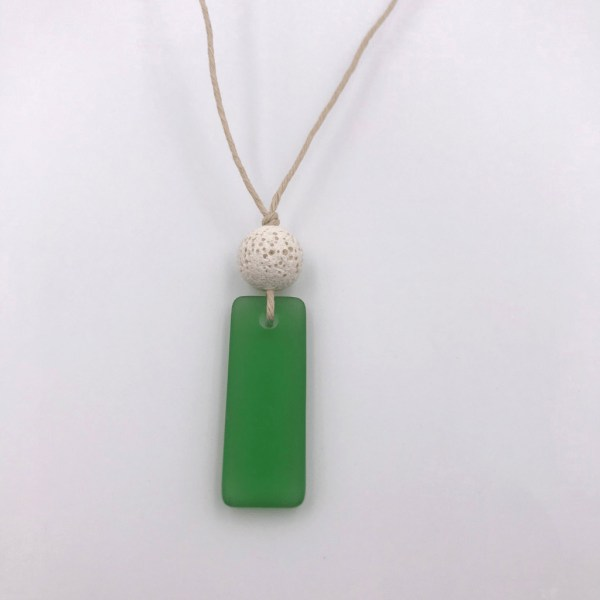 Sea glass Necklace Green