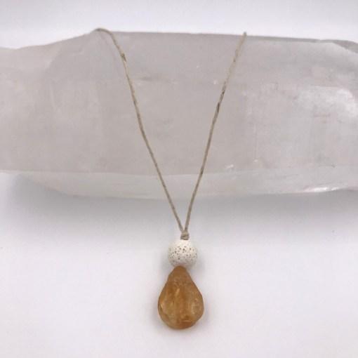 Citrine Aromatherapy Necklace