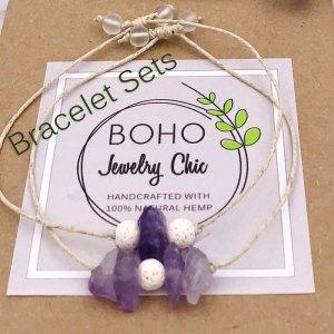 Gemstone Aromatherapy Bracelet Sets