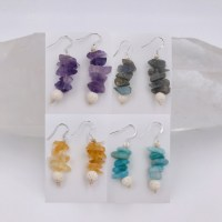 Gemstone Aromatherapy Earrings