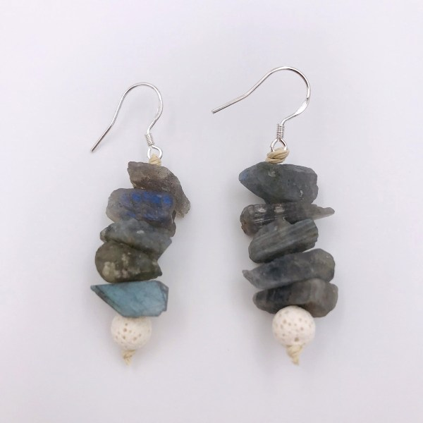 Labradorite Aromatherapy Earrings