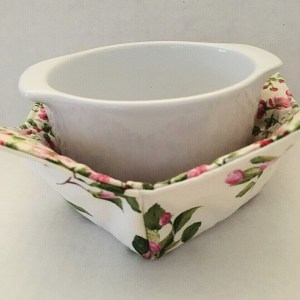 Pink Apple Blossoms Bowl Holder Cozy