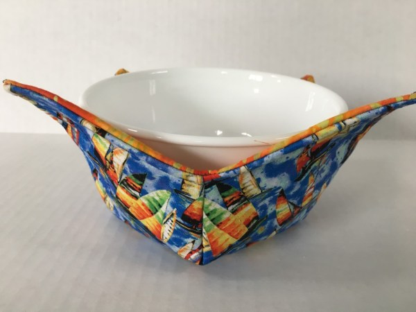 Sailboats Microwave Bowl Holder Cozy