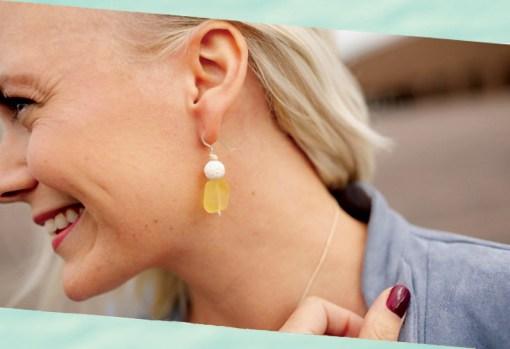 Sea Glass Aromatherapy Earrings