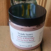 Face Scrub with Kaolin & Rose Clay for Dry Skin