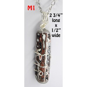 Fordite Necklace on Chain