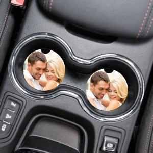Custom Photo Car Coaster Set Neoprene Car Cup Holder Coasters