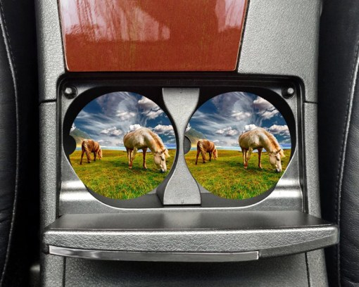 Custom Photo Car Coaster Set for Cup Holders