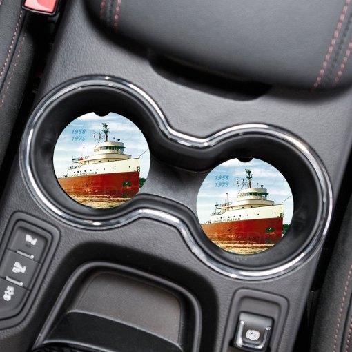 Edmund Fitzgerald Car Coaster Set Cup Holder Coasters
