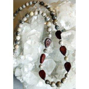 Jasper Petoskey Stone Necklace
