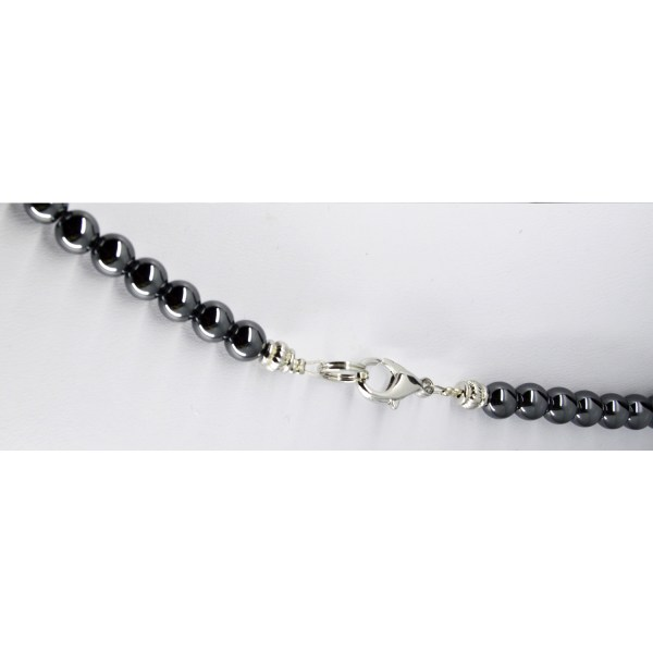 Clasp of Hematite and Petoskey Stone Necklace