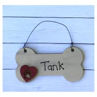 Personalized Dog Bone Ornament Wood