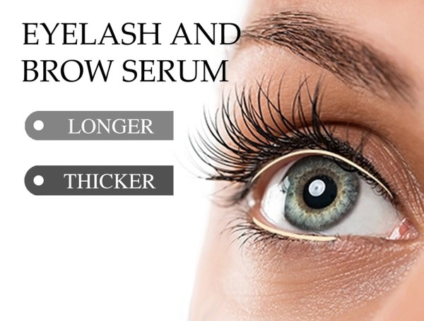 eyelash and eyebrow serum