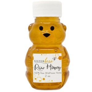 Raw WildFlower Honey Bear