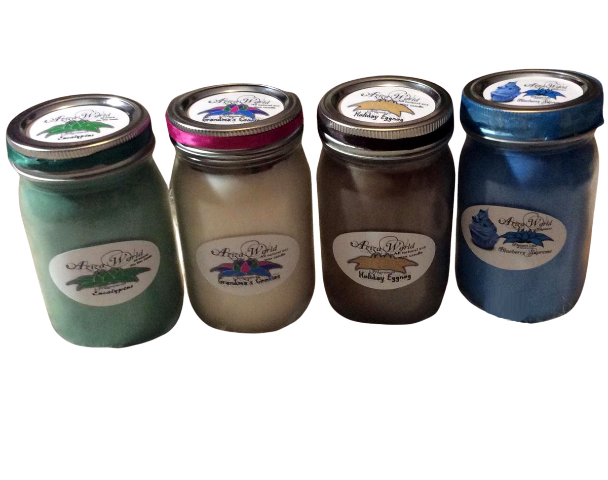 Custom Soy Candles with Essential Oil