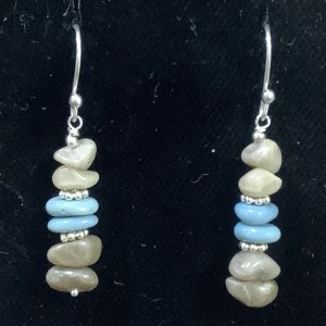 petoskey stone leland blue stone chip earrings