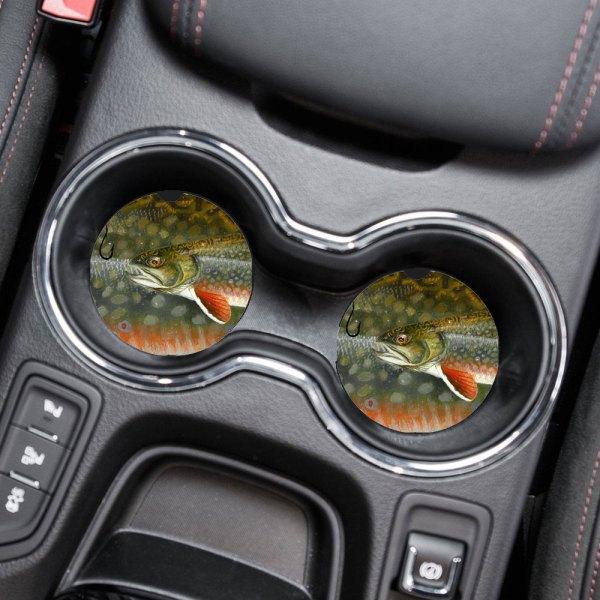 Michigan Fish Car Coasters