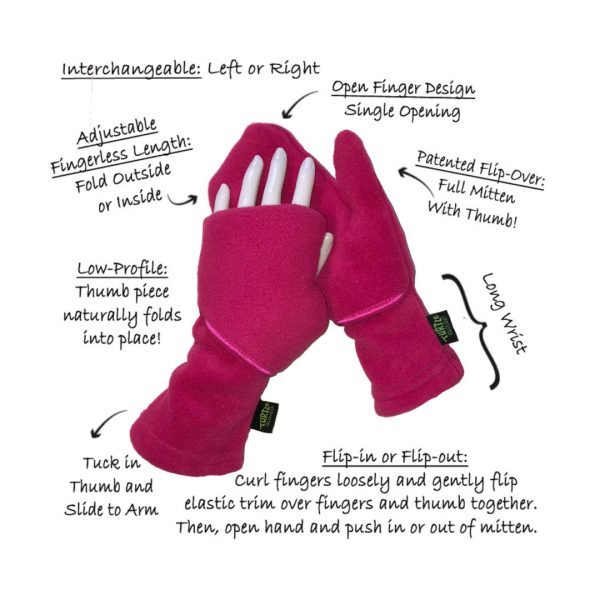 Anatomy of Turtle Flip Convertible Mittens