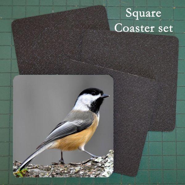 Neoprene Photo Coaster Chickadee