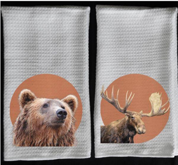bear towel moose towel