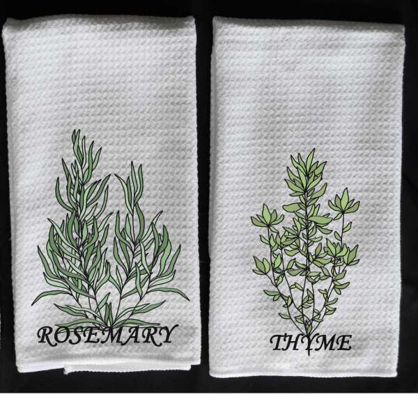 rosemary towel thyme towel