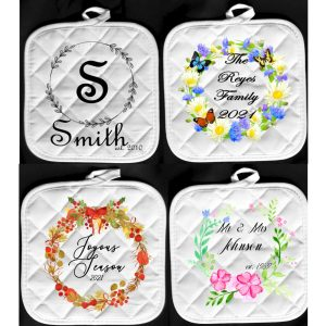 wreath pot holder hot pads monogram summer fall spring