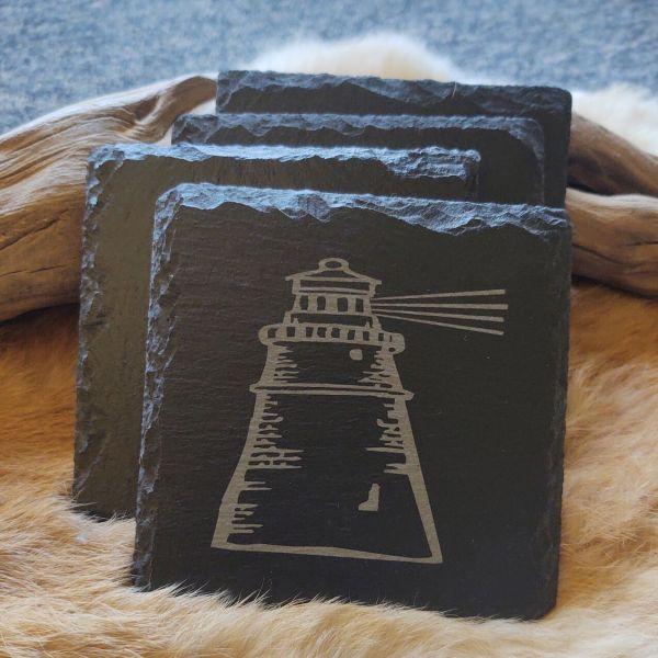 Lighthouse Slate Coaster