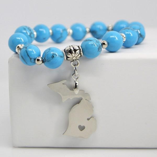 Michigan Charm Gemstone Bracelet Turquoise