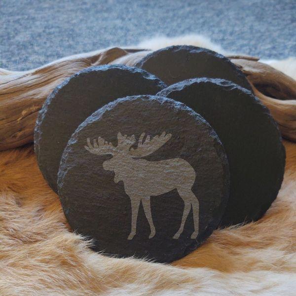 Moose Slate Coaster