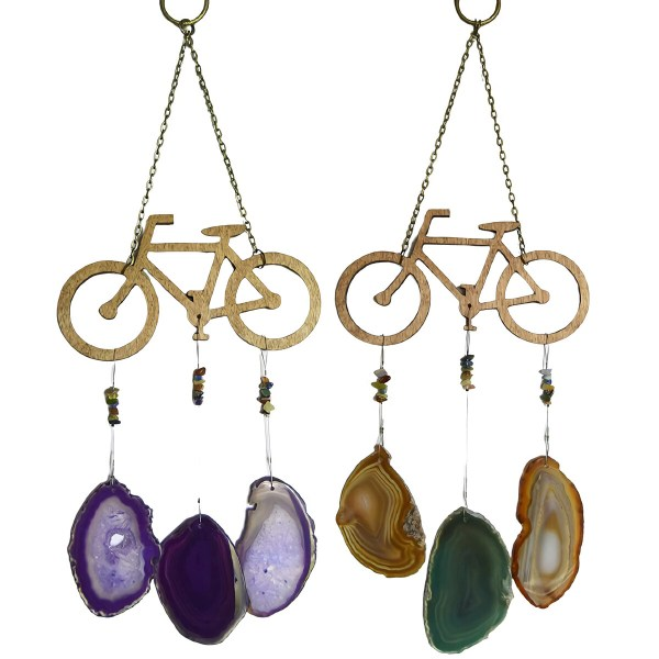 Agate Bicycle Wind Chime