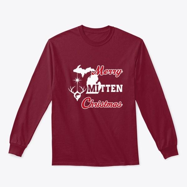 Merry Mitten Christmas Long Sleeve Shirt Cardinal Red