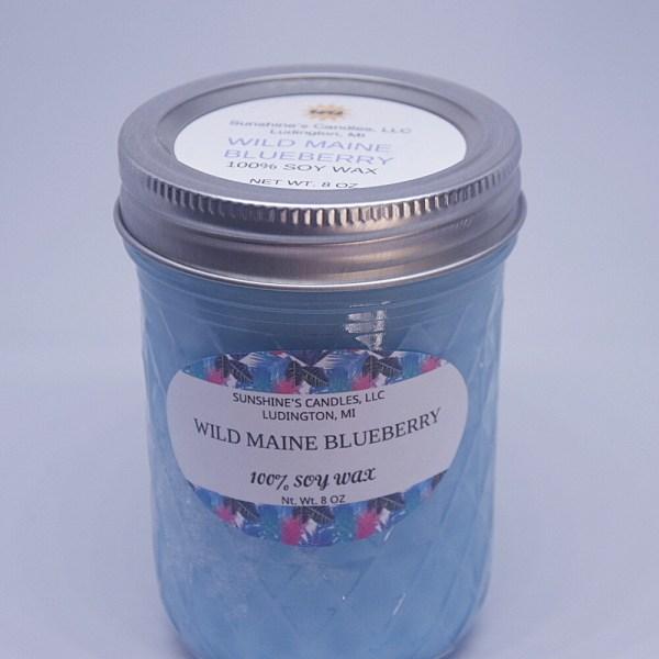 Scented Soy Candle 8 oz Mason Jar