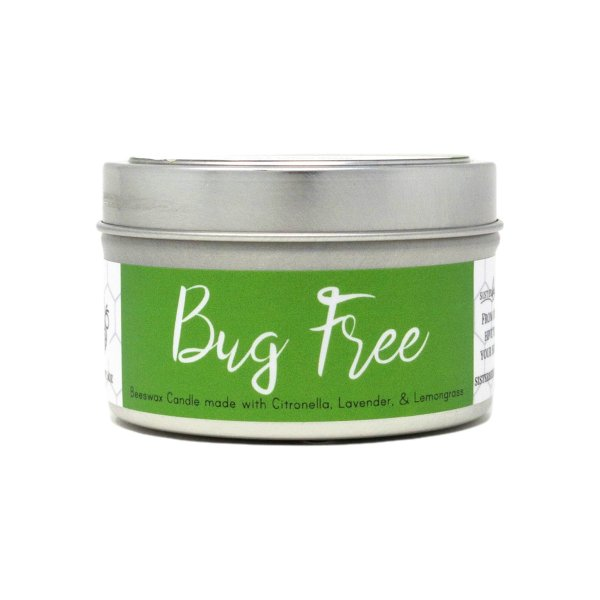 Bug Free Beeswax Candle Citronella Lemongrass