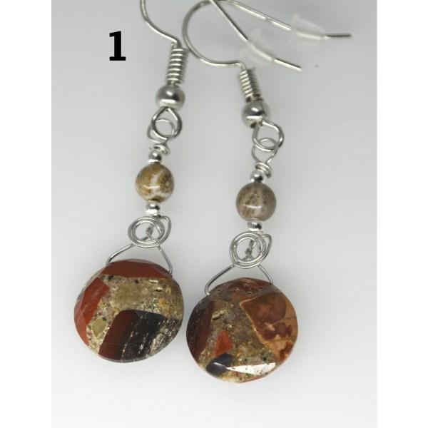 Dangle Pudding Stone Earrings 1