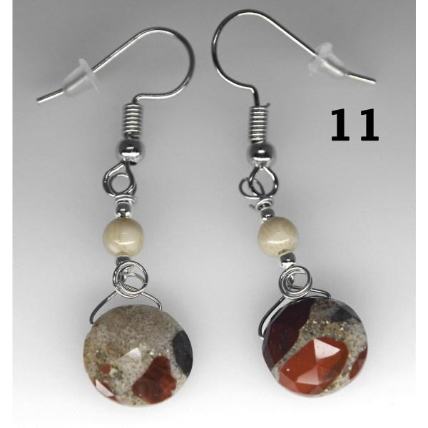 Dangle Pudding Stone Earrings 11