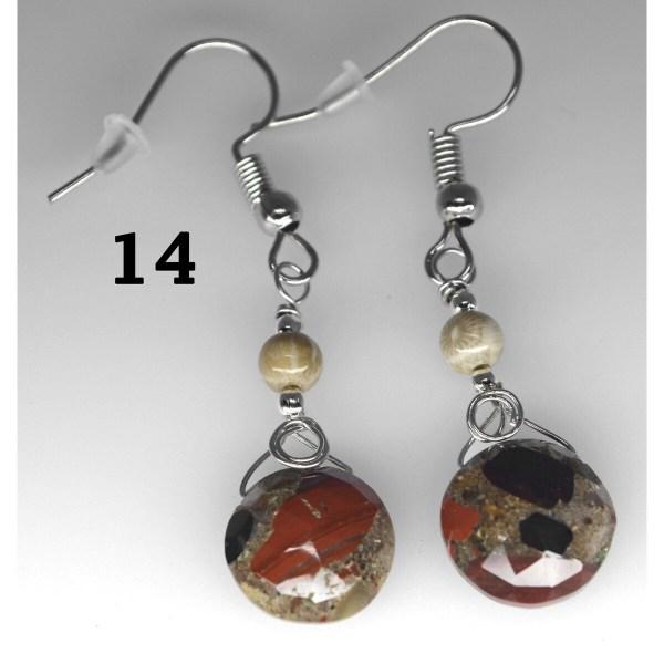 Dangle Pudding Stone Earrings 14
