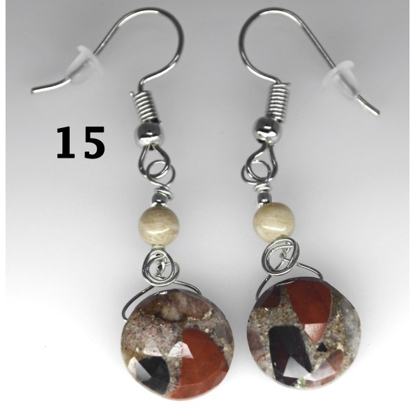 Dangle Pudding Stone Earrings 15
