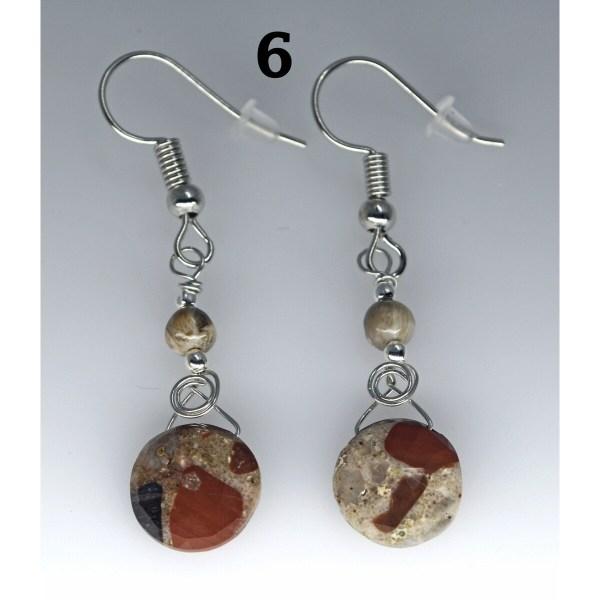Dangle Pudding Stone Earrings 6