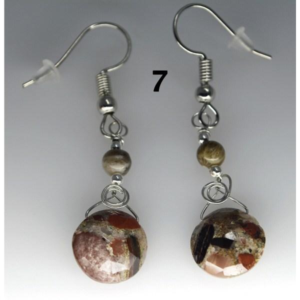 Dangle Pudding Stone Earrings 7