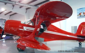 Beechcraft Staggerwing design with upper wings set back from lower wings