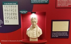 Image of Louis Braille who inventor of the Braille writing code