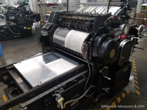 Heidelberg Pres - one of three presses converted to print Braille