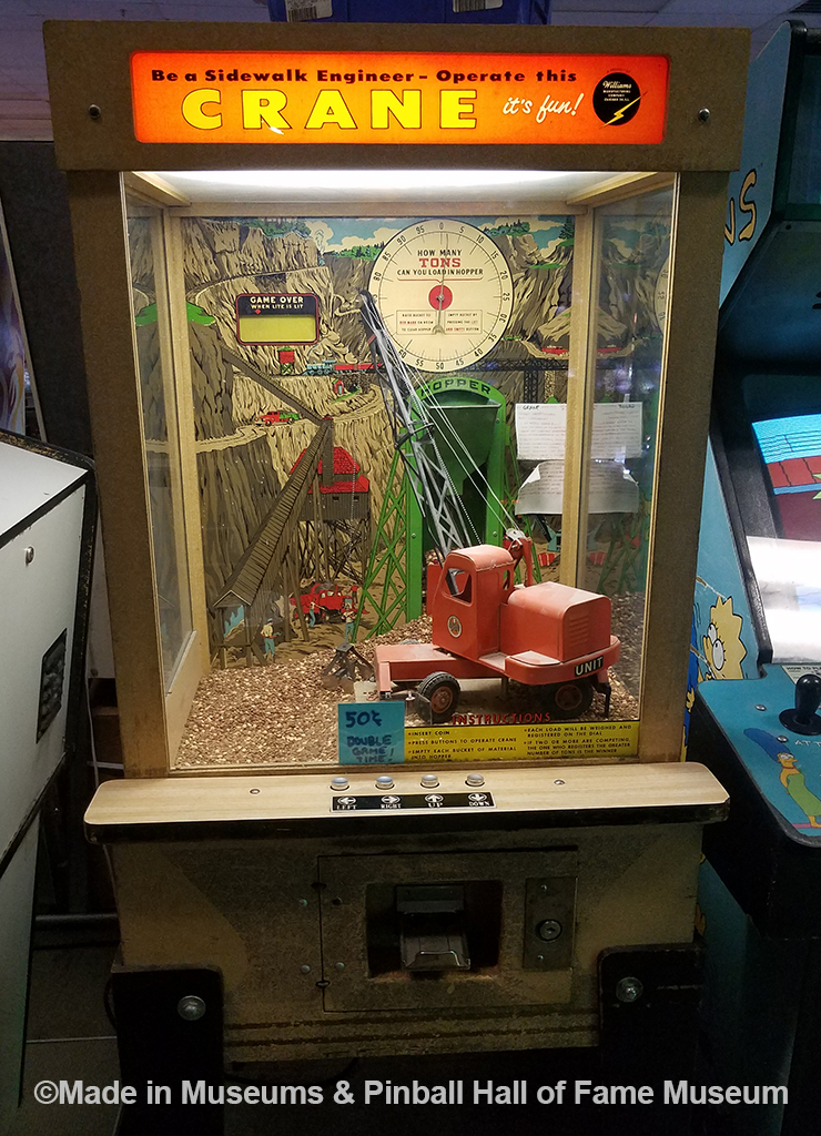 Crane game from the 1950s