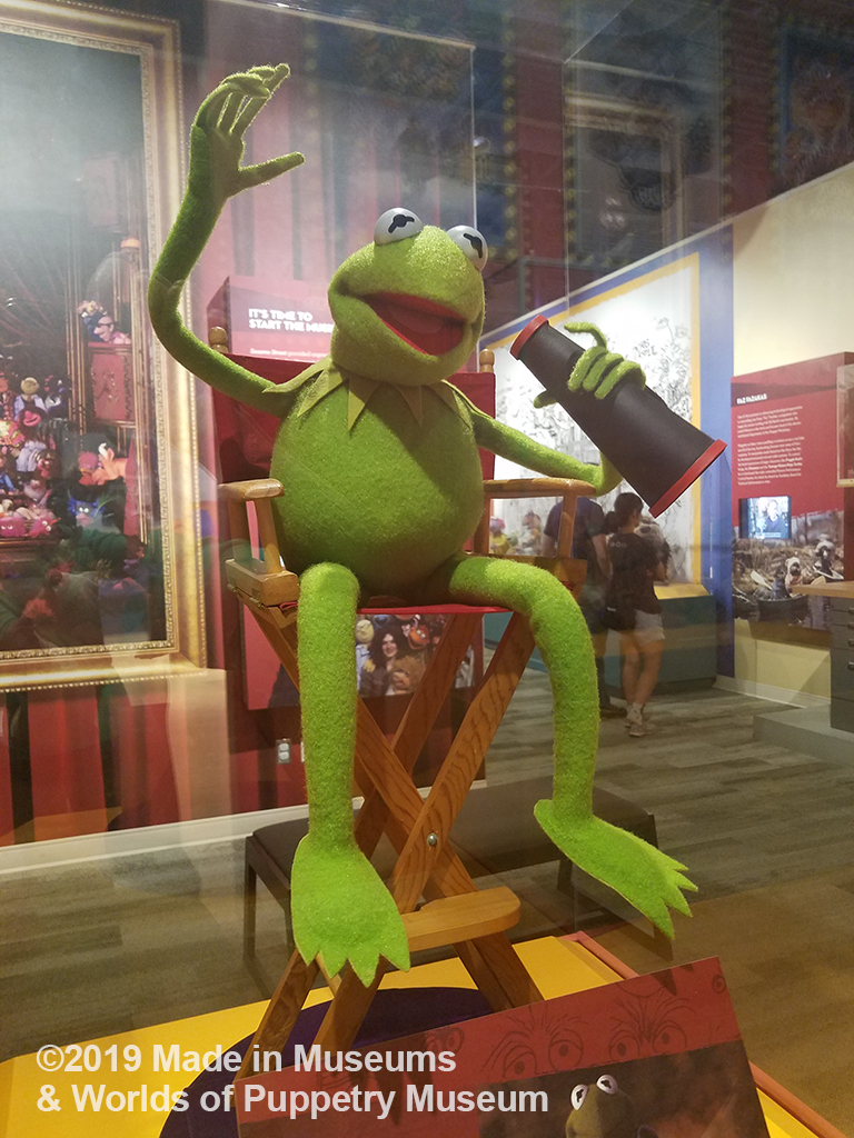 Kermit the Frog in his director's chair.